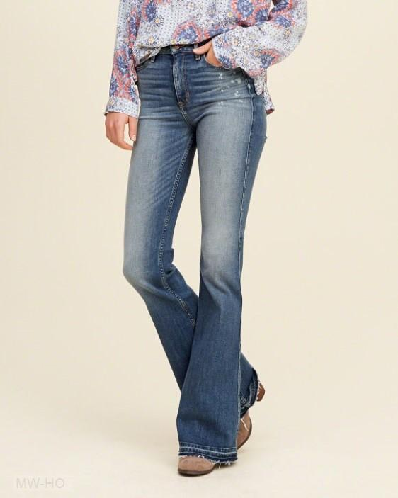 Hollister Medium Wash Flare Jeans L9C41100.jpg