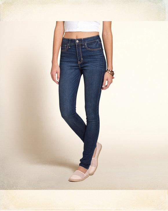 Hollister Hohen Anstieg Super Skinny Jeans In Dunkler Waschung F r Damen 726_LRG.jpg
